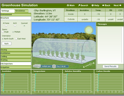 Screenshot of the Greenhouse Interface