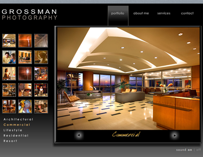 Screenshot of the Grossman Photo Site