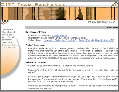Screenshot of a Team Exchange site